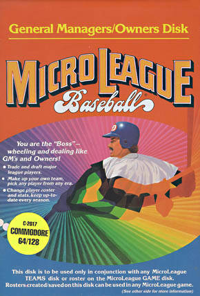 MicroLeague Baseball - Commodore 64 | Retro1UP Game