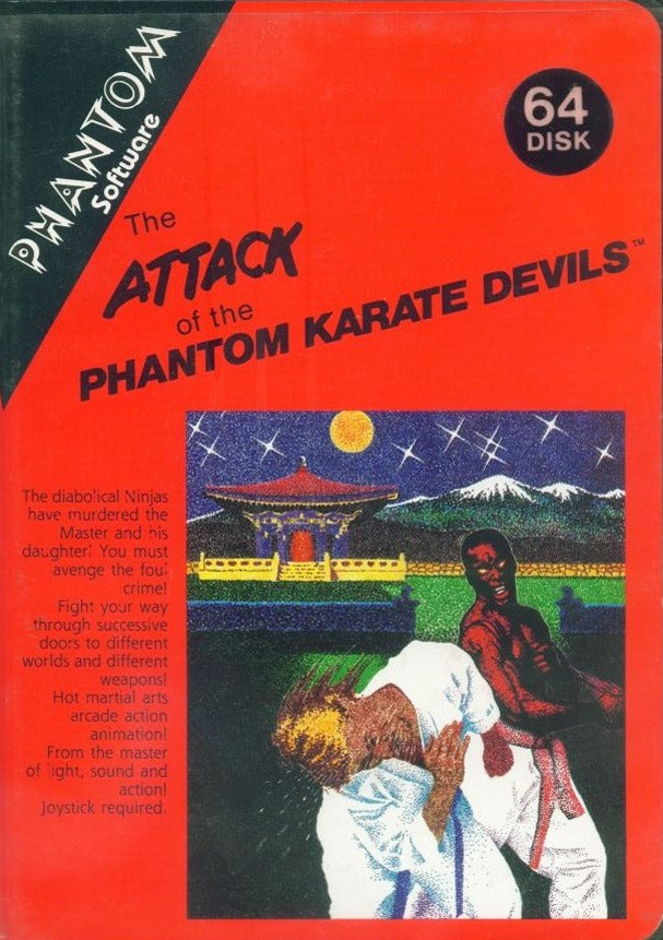Attack of the Phantom Karate Devils - Commodore 64 | Retro1UP Game