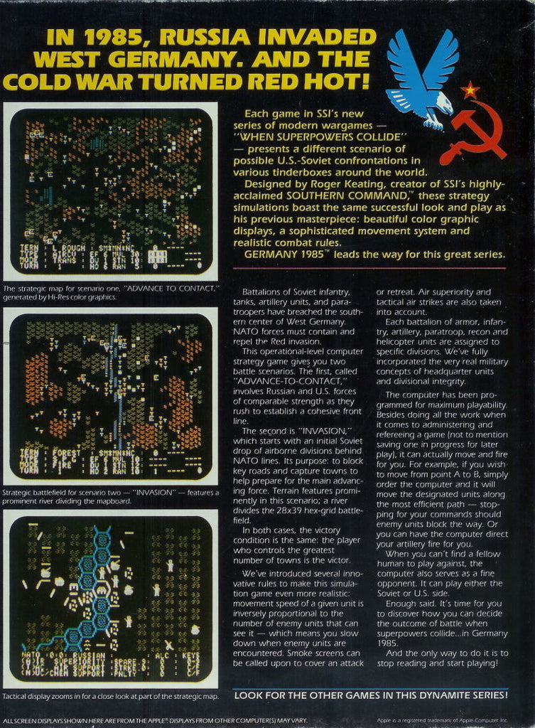 Germany 1985: When Superpowers Collide - Commodore 64 | Retro1UP Game