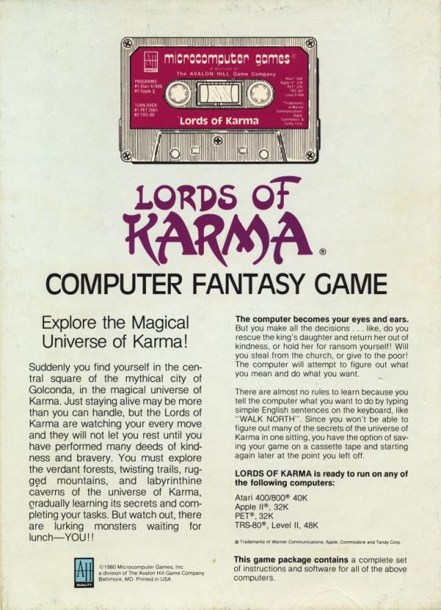 Lords of Karma - Atari 8-bit | Retro1UP Game
