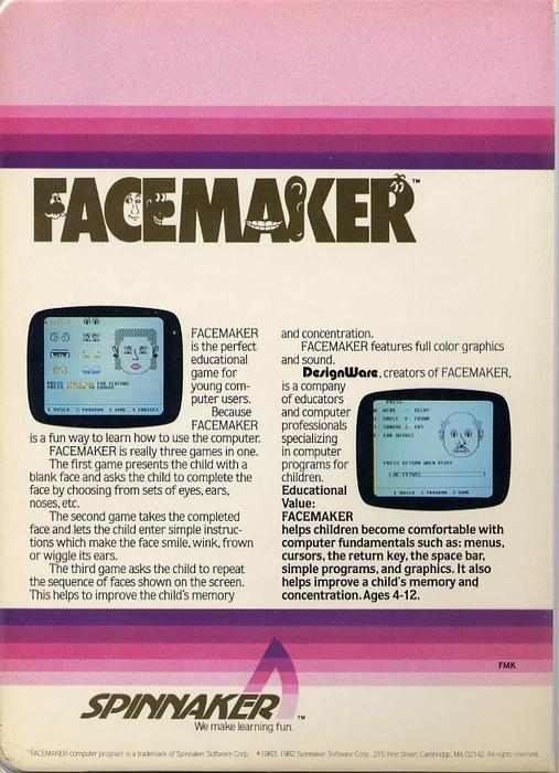 Facemaker - Commodore 64 | Retro1UP Game