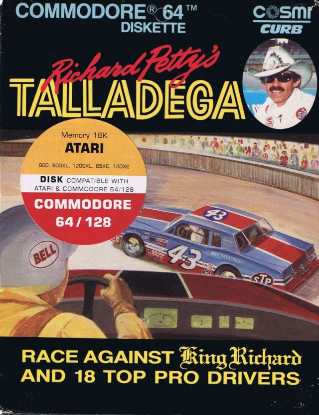 Richard Petty's Talladega - Atari 8-bit | Retro1UP Game