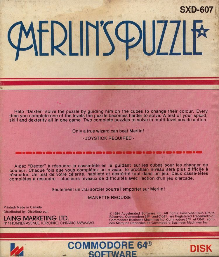 Merlin's Puzzle - Commodore 64 | Retro1UP Game