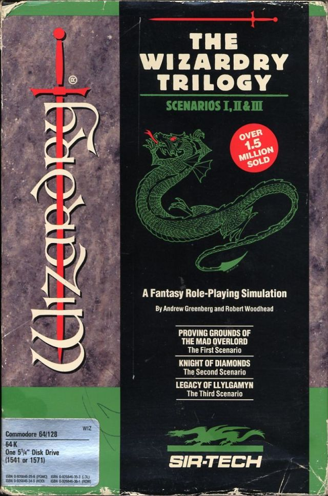 The Wizardry Trilogy: Scenarios I, II & III - Commodore 64 | Retro1UP Game