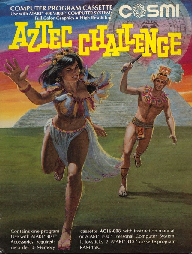 Aztec Challenge - Atari 8-bit | Retro1UP Game