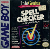 InfoGenius Productivity Pak: Spell Checker and Calculator - Game Boy | Retro1UP Game