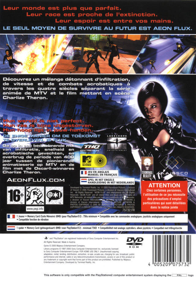 Aeon Flux - PlayStation 2 | Retro1UP Game
