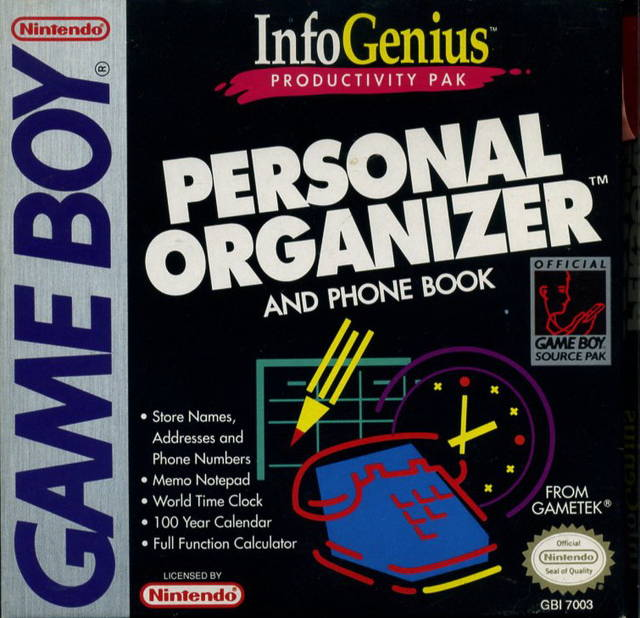 InfoGenius Productivity Pak: Personal Organizer and Phone Book - Game Boy | Retro1UP Game