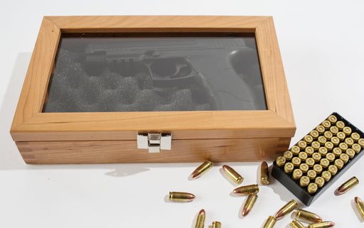 American Chest GD1N Gun Display and Locking Chest for Single Pistol American Chest