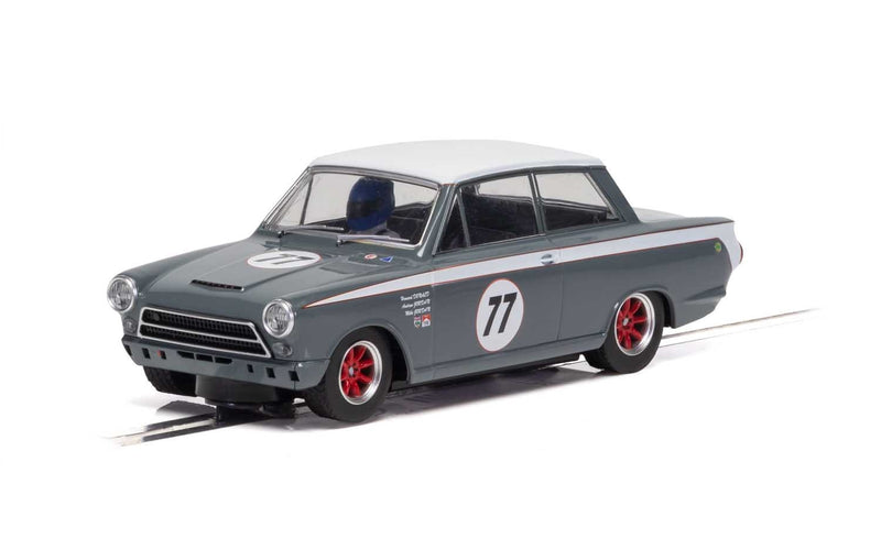 SCALEXTRIC FORD LOTUS CORTINA - JRT - HOWARD DONALD/ANDREW JORDAN NO.77 (C4177)