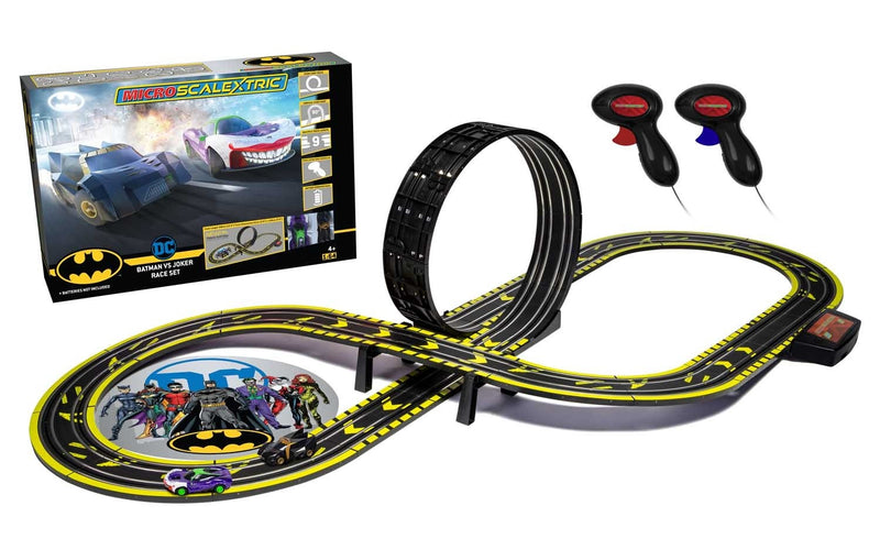 MICRO SCALEXTRIC BATMAN VS JOKER SET (BATTERY)(G1155)