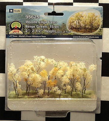 "JTT 'N' Woods Edge Trees Beige Green 15pk 2""-2-1/1"" (95625)"