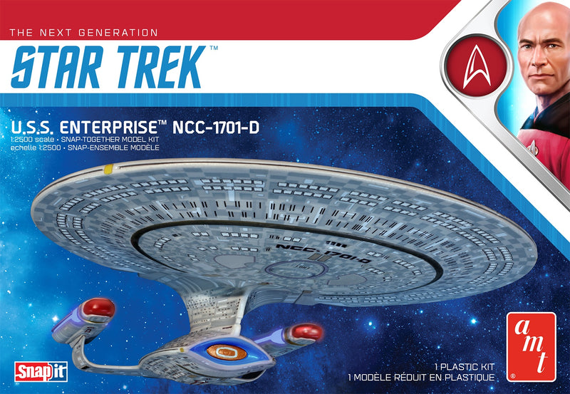 AMT STAR TREK U.S.S. ENTERPRISE-D (SNAP) 1:2500 SCALE KIT (AMT1126M/12)