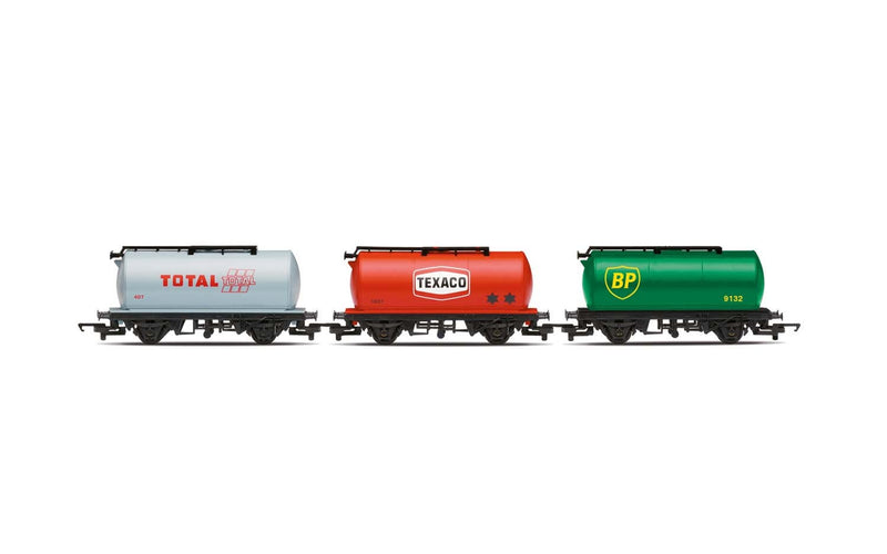 HORNBY Petrol Tankers, three pack, Various - Era 2/3 (R6891)