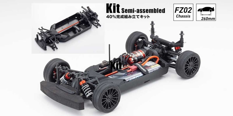 KYOSHO Radio Controlled Electric Powered 4WD Touring Car FAZER Mk2 FZ02 Chassis Kit (34461)