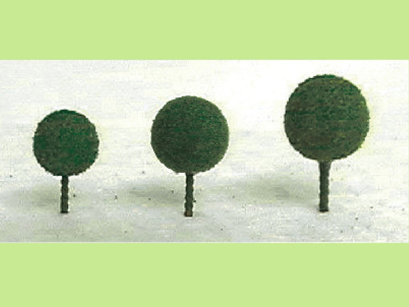 JTT Micro Tree, Medium Green mix bag 3/16''-1/2'' height 30pk (94330)