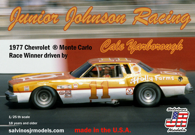 SALVINOS JR MODELS 1/25 Junior Johnson Racing 1977 Chevrolet ® Monte Carlo driven by Cale Yarborough (JJMC1977NW)