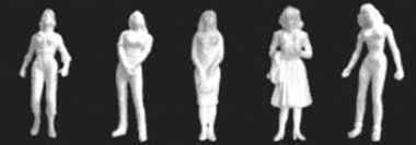 JTT HO-scale, Female Figures, White 10/pk (97108)