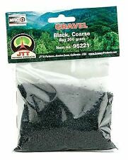 JTT Gravel Black , Course 200gram Bag (95221)