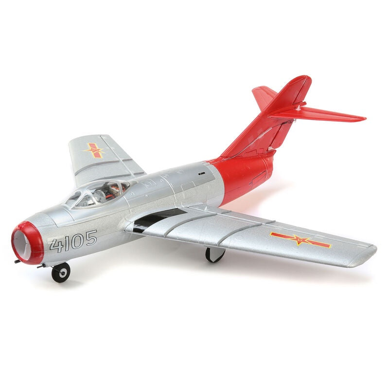 E-Flite UMX MiG-15 28mm EDF Jet BNF Basic with AS3X and SAFE Select, 411mm (EFLU6050)