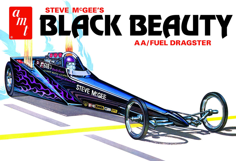 AMT STEVE MCGEE BLACK BEAUTY WEDGE DRAGSTER 1:25 SCALE MODEL KIT (AMT 1214/12)