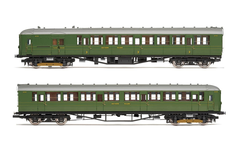 HORNBY SR, 2-BIL, Unit 2152; DMBT(L) No. 10718 and DTC(L) No. 12185 - Era 3 (R3700)