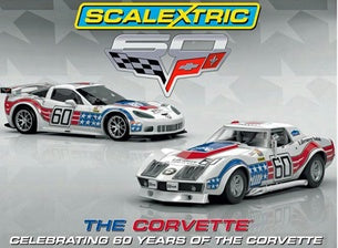 SCALEXTRIC Corvette 60 years twin pack (C3368A)