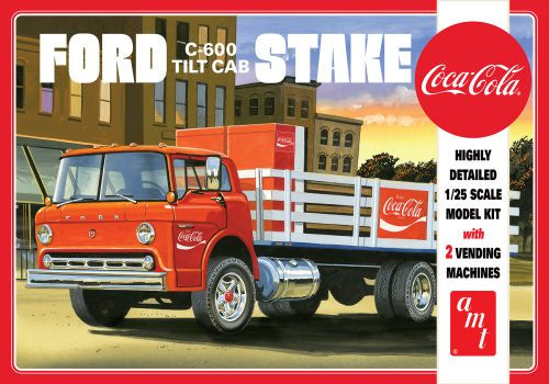 AMT FORD C600 STAKE BED W/COCA-COLA MACHINES 1:25 SCALE MODEL KIT (AMT1147/06)