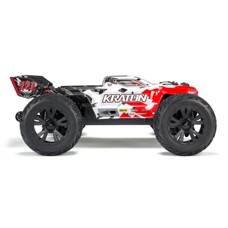 ARRMA 1/10 KRATON 4x4 4S BLX Brushless Monster Truck with Spektrum RTR, Red (ARA102690)