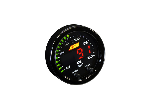 X-Series Temperature Gauge 100~300F / 40~150C. Black Bezel & Black Water Faceplate