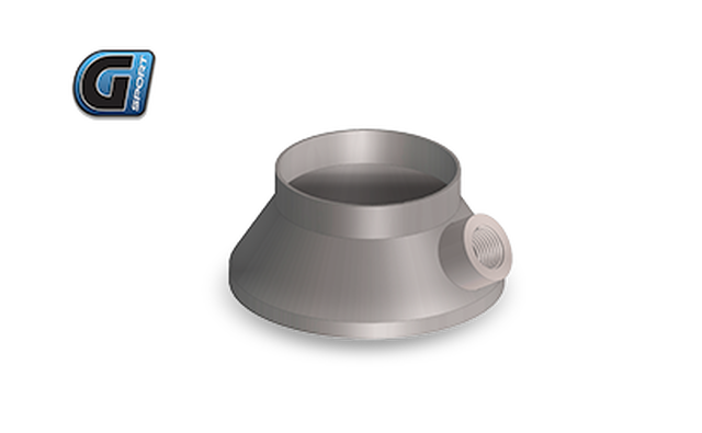 "G-Sport Inlet / Outlet Transition Cone (Single Piece) 4"" BODY / Straight With integrated O2 Sensor Fitting,  2.5"" Diameter"