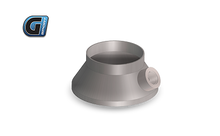 "Load image into Gallery viewer, G-Sport Inlet / Outlet Transition Cone (Single Piece) 4"" BODY / Straight With integrated O2 Sensor Fitting,  2.5"" Diameter"