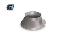 "Load image into Gallery viewer, G-Sport Inlet / Outlet Transition Cone (Single Piece) 4.5"" BODY / Straight With integrated O2 Sensor Fitting,  3"" Diameter"