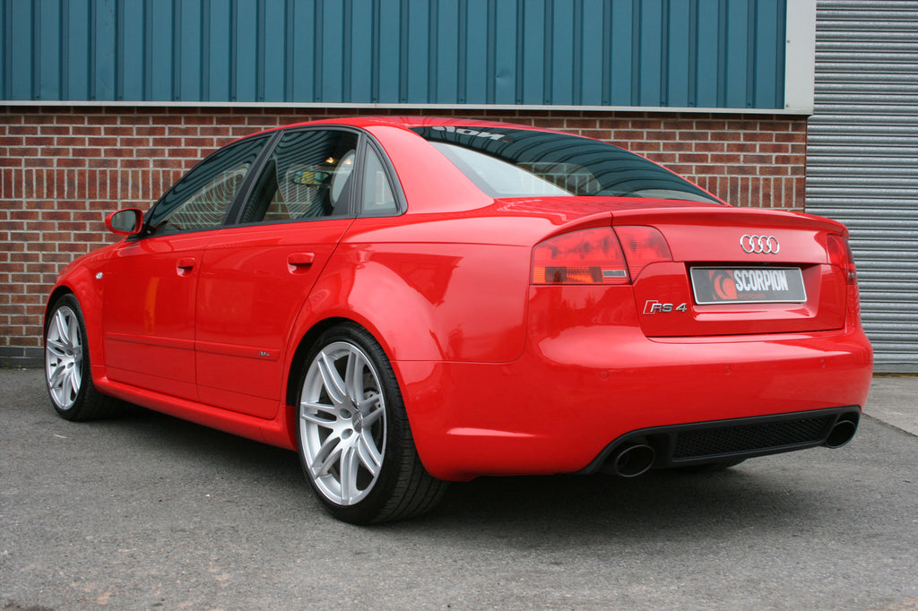 Audi RS4 4.2 V8 B7  - Resonated cat-back system with vacuum valves