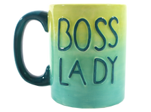 "Load image into Gallery viewer, Boss Lady Mug 3½"" Dia. x 4¼"" H (14 Ounces)"