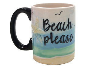 "Beach Please Mug 3¼"" Dia. x 4"" H (12 Ounces)"