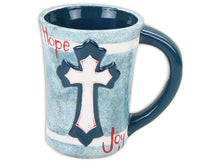 "Load image into Gallery viewer, Cross Mug 3¼"" Dia. x 4⅜"" H (12 Ounces)"