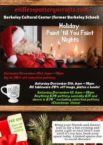 Paint 'til You Faint! Holiday Paint Nights * NOVEMBER 21