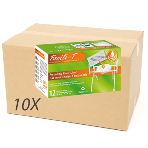 Box of 120 envelopes HYGIENIC FACILI-T commode chair