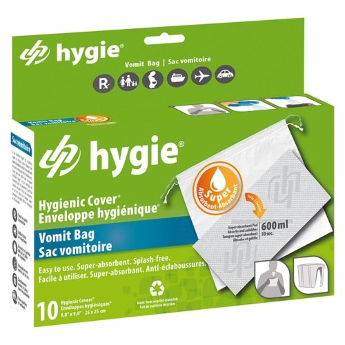Enveloppes HYGIENIC pour support vomitoire