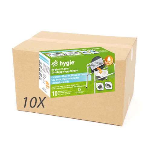 Box of 100 commode and bedpan envelopes