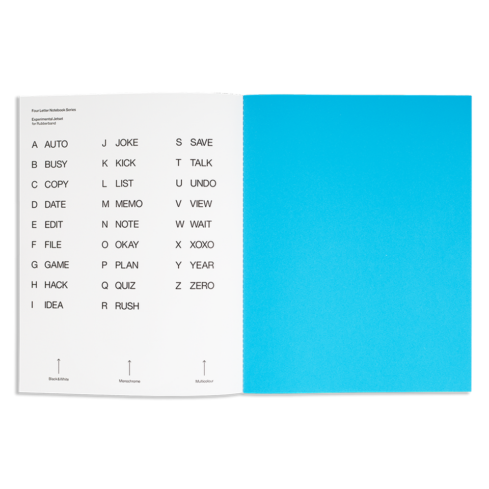 four letter notebook O