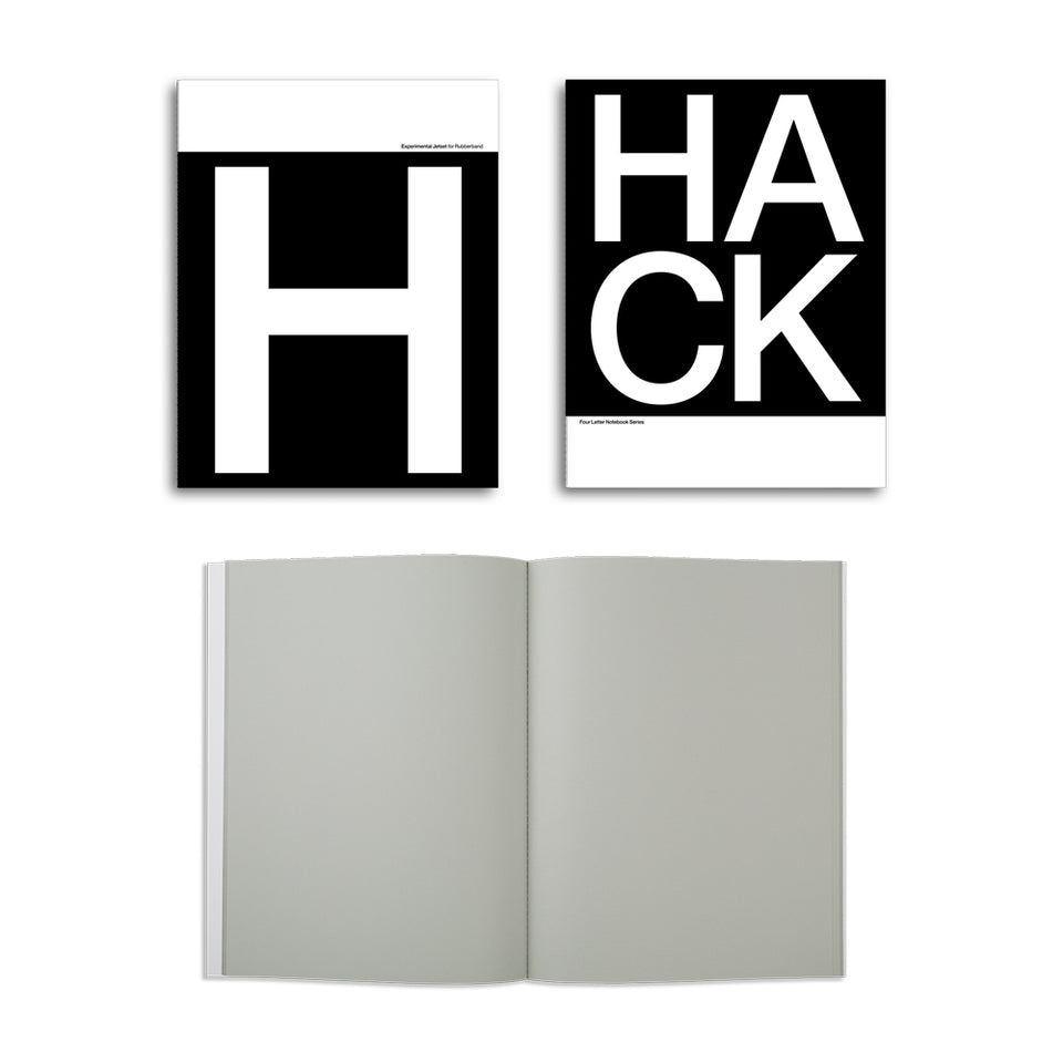 four letter notebook series - black & white