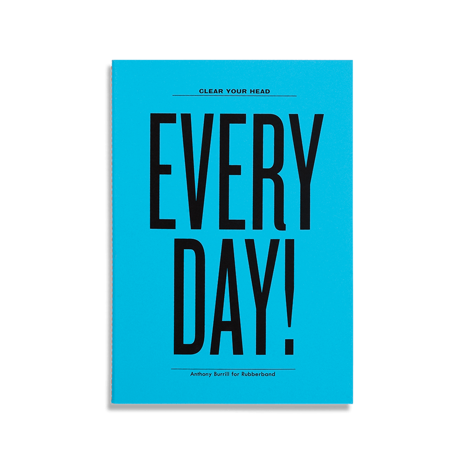 anthony burrill notebooks - set of 6