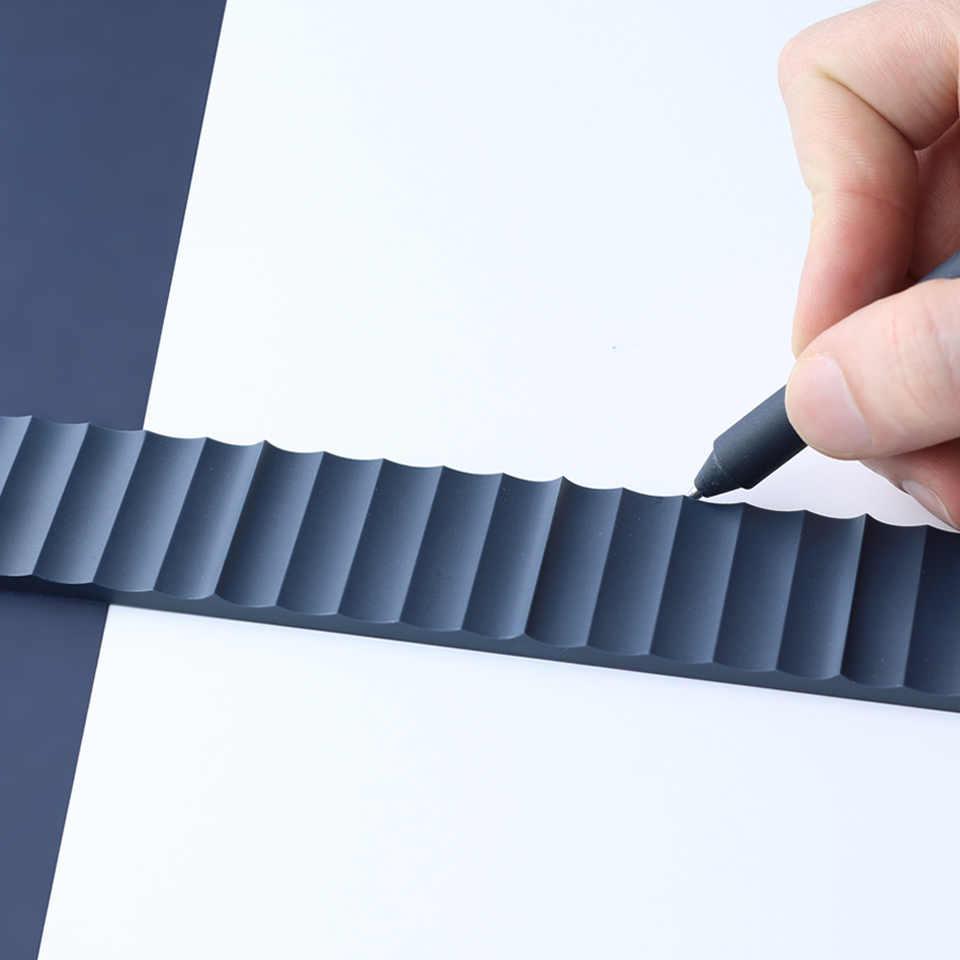 corrugated ruler