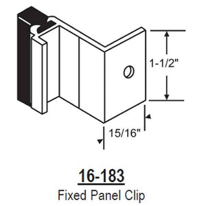 Fixed Panel Clip 16-183WH