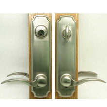 Load image into Gallery viewer, Brass Plated Eclipse Handle Set-Keyed 55-220BRS