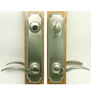 Brass Plated Eclipse Handle Set-Keyed 55-220BRS