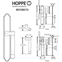 Load image into Gallery viewer, Hoppe M574-M2170 Active Sliding Door Handle Set 850-2081861