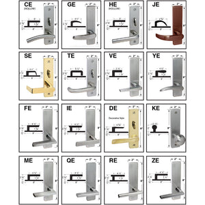 Cal-Royal NM Series, Extra Heavy Duty Mortise Locks, Grade 1 - ESCUTCHEON TRIM DORMITORY / EXIT LOCK Function F13, Right-Hand (VE-ZE)